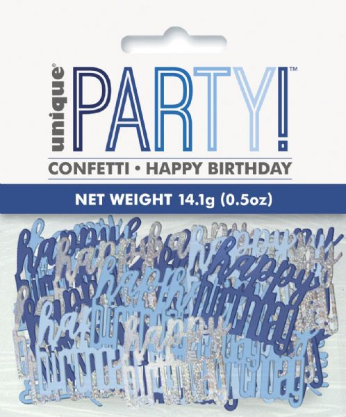 Glitz Blue Happy Birthday Table Confetti
